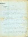 Autograph letter signed to John Brett