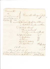 He reimburses a man for expenses incurred serving subpoenas, including one on a Mohawk accused of being a spy. Manuscript document, signed.