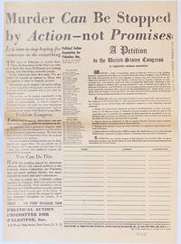 image of Murder can be stopped by action - not promises... A petition to the United States Congress
