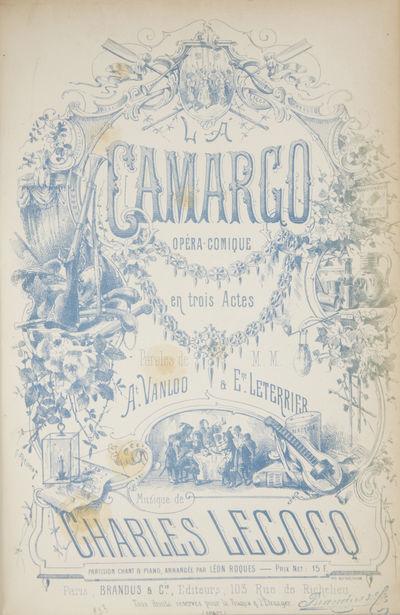 Paris: Brandus & Cie. , 1878. Large octavo. Contemporary dark brown quarter leather with green marbl...