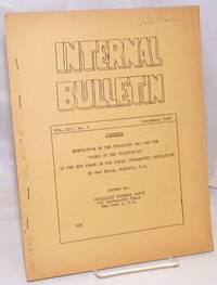 image of Internal bulletin, vol. 12, no. 4. November 1950