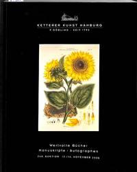 Auktion 248. 13-14 November 2000. Wertvolle Bücher Manuskripte,  autographen.