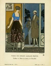 Vous Ne Serz Jamais Prets: Tailleur et Robe de dinens, de Doeuillet Print from the Gazette du Bon Ton