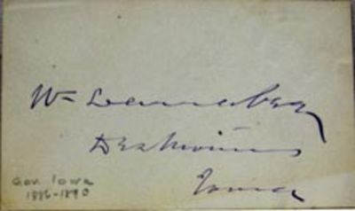Des Moines, IA: No publisher, 1890. Book. Near fine condition. No Binding. Signed by Author(s). Firs...