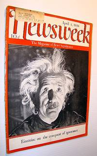 Newsweek Magazine, April 4, 1938 - Albert Einstein Cover Photo and Feature Article