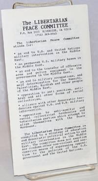 The Libertarian Peace Committee