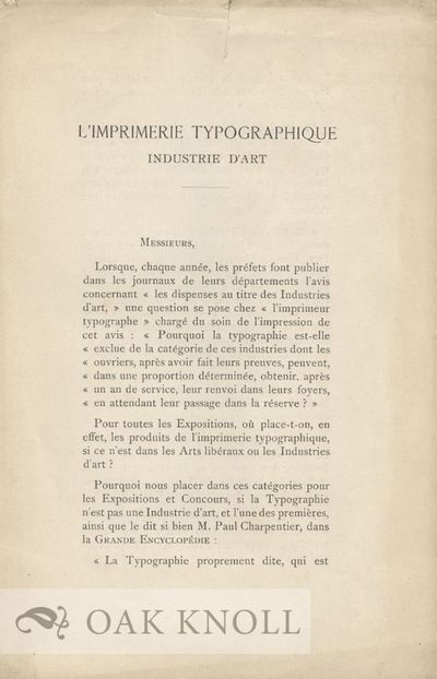 Chateaudum: H. Prudhomme, 1895. self paper wrappers. 8vo. self paper wrappers. 4 pages. With small t...