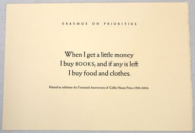 : Coffee House Press, 2004. 7.5