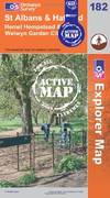 image of St Albans and Hatfield (OS Explorer Map Active)