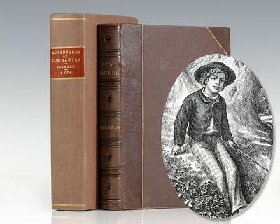 Hartford: American Publishing Company, 1876. Rare publisher's gilt half morocco binding of one of th...