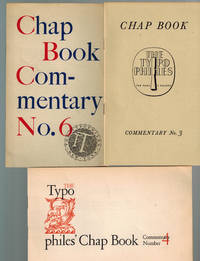 image of Collection of Typophile Chap Book Commentaries  1940-1945