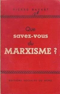 Que savez-vous du marxisme