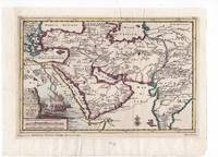 1705 Original Map of Turkey, Arabia, Persia, and India by Pieter Van Der AA, Illustrated with a Shipwreck
