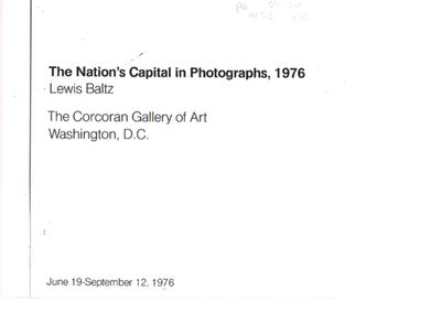 The Corcoran Gallery of Art, Washington, D.C. , 1976. 8 in. x 8 in., Unnumbered pages, Wrappers, One...