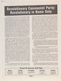 image of Revolutionary Communist Party: revolutionary in name only