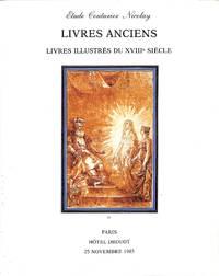 Vente 25 Novembre 1985: Livres Anciens - Livres Illustrés du XVIIIe Siècle.