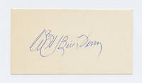 Autograph Card Signed as Wm. H. (Bill) Terry