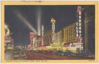 Gaming Clubs in Virginia Street, Reno, Nevada, unused linen Postcard