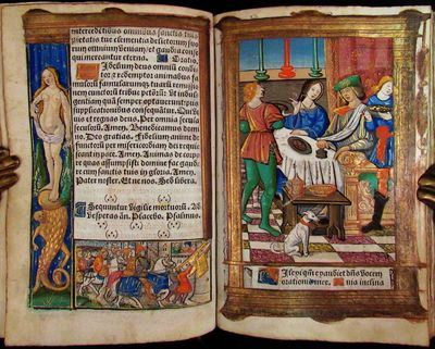 BOOK OF HOURS, Latin and French, Use...