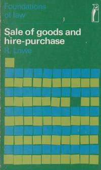 Sale Of Goods and Hire-Purchase [Foundations Of Law]