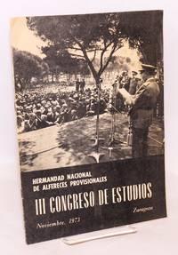 Tercer Congreso de Estudios; Noviembre, 1973
