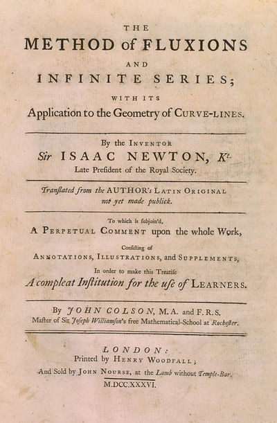 INVENTION OF THE CALCULUS