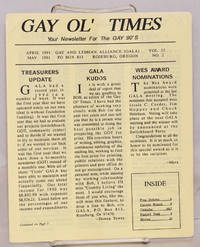 image of Gay Ol' Times: Gay and Lesbian Alliance newsletter; vol. 12, no. 2, April/May 1991