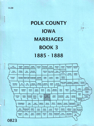 Des Moines: Iowa Genealogical Society, 1984. Paperback. Very good. 53pp. Scattered highlighting to n...