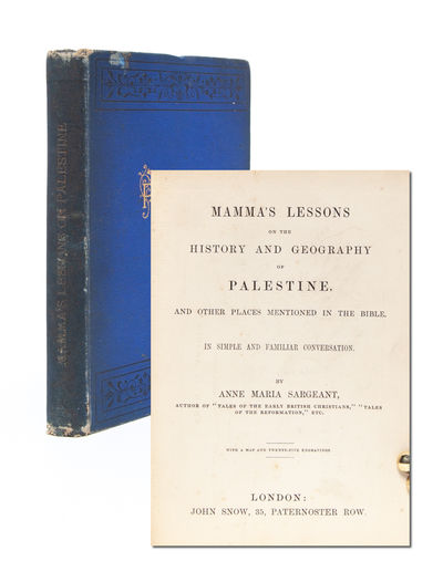 London: John Snow, 1849. First edition. Original publisher's cloth binding stamped in gilt, black an...