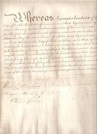 CERTIFICATE OF MARRIAGE BETWEEN JAMES NEWBOLD AND LYDIA EARL OF  BURLINGTON COUNTY, NEW JERSEY ... 1819