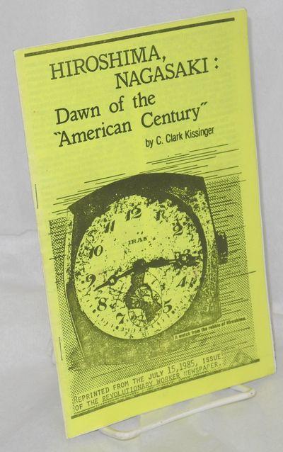San Francisco: Revolution Books, 1985. 9p., photoreproduced staplebound pamphlet, 5.5x8.5 inches, ve...