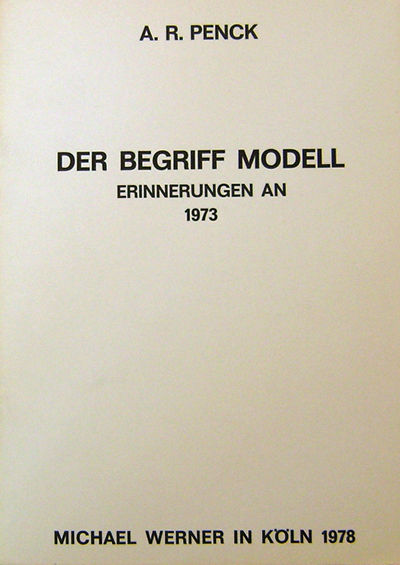 Koln: Michael Werner, 1978. First edition. Paperback. Very Good +. 4to. 28 pp. Unusual catalog from ...