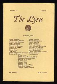 Christiansburg, VA: The Lyric, 1967. Softcover. Fine. Vol. 47, no. 1. Fine in stapled wrappers. Sign...