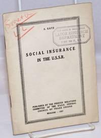 image of Social insurance in the U.S.S.R.