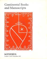 Sale 4-5 December 1997 : Continental Books and Manuscripts.