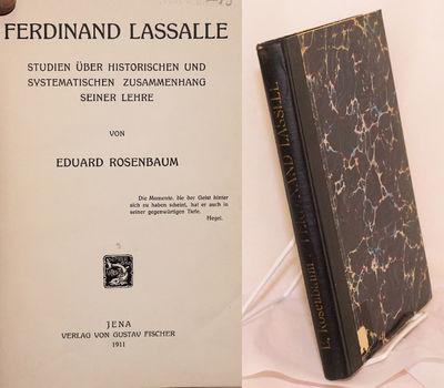 Jena: Verlag von Gustav Fischer, 1911. Hardcover. viii, 218p., hardbound in 9x6 inch marbled boards ...