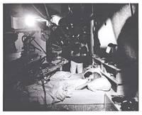 image of Rosemary's Baby (Original photograph of Mia Farrow, John Cassavetes, and Roman Polanski from the set of the 1968 film)