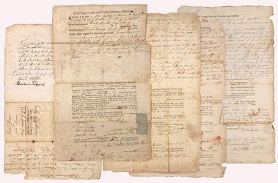 Five Deeds Completed In Manuscript &...