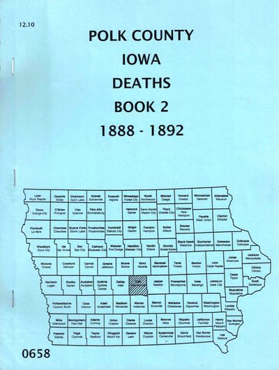 Des Moines: Iowa Genealogical Society, 1988. Paperback. Very good. 87pp. Scattered highlighting to n...