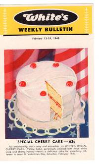 White's Baking Company, Weekly Bulletin: 200+ color leaflets with weekly specials, Illustrated baked goods and recipes (1948-1951)