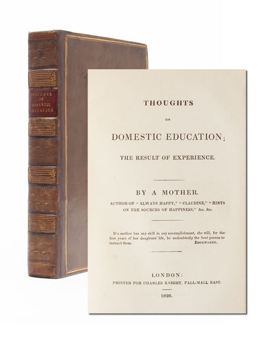 London: Charles Knight, 1826. First edition. Contemporary full calf with gilt and morocco to spine, ...