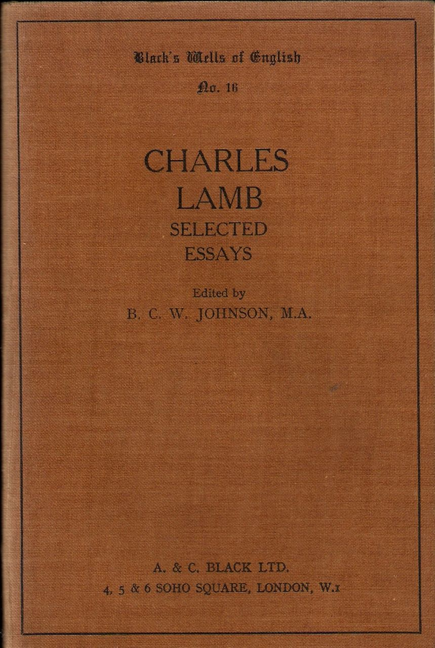 last essays of elia The last essays of elia - audiobook charles lamb (1775 - 1834) discursive ramblings of a generous mind, no-one would know from lamb's conversational button-h.