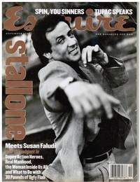 image of ESQUIRE 1996. SYLVESTER STALLONE, THE MURDER OF TUPAC SHAKUR, MASTERS OF SPIN