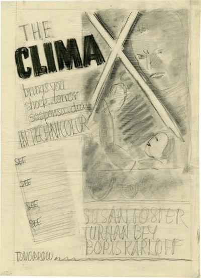 Universal City, CA: Universal Pictures, 1944. Original preliminary advertising concept art sketch fo...