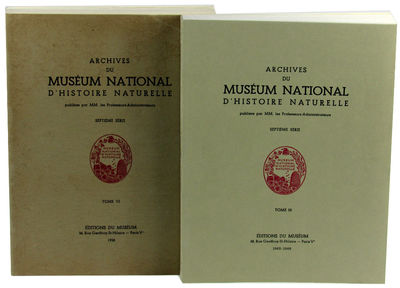 Paris: Editions Du Museum, 1958/ 1966. Paperback. Very good. 322pp+36 plates, illustrations througho...