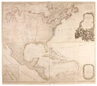 A New Map of North America, with the West India Islands. Divided according to the preliminary articles of peace, signed at Versailles, 20, Jan. 1783. wherein are particularly distinguished the United States, and the several provinces, governments &ca which compose the British Dominions; laid down according to the latest surveys, and corrected from the original materials, of Goverr. Pownall, Member of Parliamt
