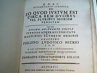 Q. D. B. V. Dissertatio iuridica De eo quod iustum est circa rem duobus vel pluribus seorsim...