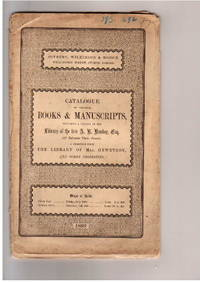 Sale 28-29 July 1899: Catalogue of valuable Books and MSS Including a  Portion of the library of the Late A.B.Hanken.A Selection from the Library  of Mrs. Hewetson and Other Properties by  WILKINSON & HODGE SOTHEBY - from Frits Knuf Antiquarian Books (SKU: 68636)