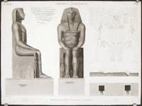 Thebes. Memnonium. Details de la Statue Colossalle de Memnon.