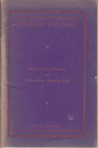 image of Mass-Intellectual-Pressure and Alpha-Matho Vibratory Scale, with the Calendar for 1926  -  SCARCE